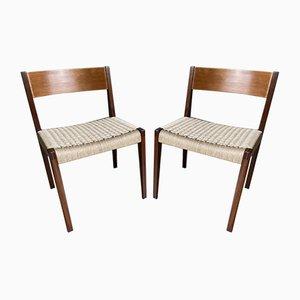 Pia Stühle aus Teak und Papierkordel von Poul Cadovius für Cado, 1960er, 2er Set