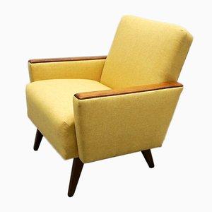 Mid-Century Danish Lounge Club Chair in Yellow, 1960