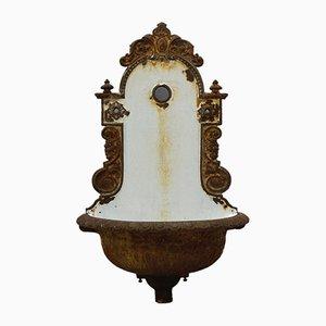 Art Nouveau Cast Iron Wash Basin or Wall Fountain, 1900s