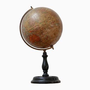Antique English Geographia Desk-Shelf Terrestrial Globe