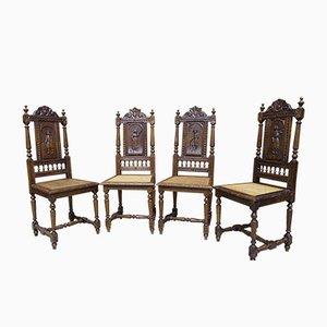 Antike Französische Stühle, 19. Jahrhundert, 4er Set