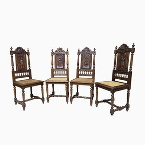 Antique French Chairs, 19th Century, Set of 4