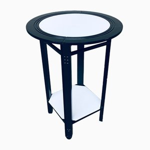 Galaxy Round Side Table by Umberto Asnago for Giorgetti, Italy, 1980s