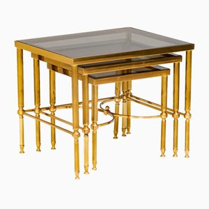 Tables Gigognes en Laiton, Set de 3