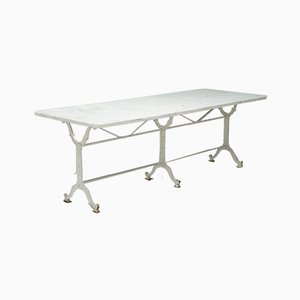 Gartentisch mit Marmorplatte