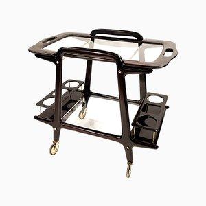 Chariot Bar ou Chariot Mid-Century par Ico Parisi pour De Baggis, Italie, 1950s
