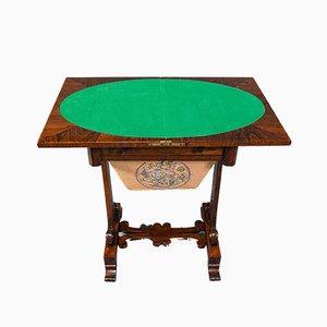 Table de Jeux Regency Antique en Palissandre, Angleterre, 1820s