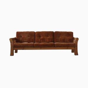 Schwedisches Mid-Century 3-Sitzer Sofa aus Massivem Kiefernholz, zugeschrieben von Östen Kristiansson, 1970er