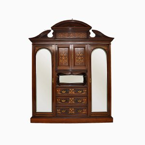Antique Victorian Inlaid Wardrobe by James Shoolbred