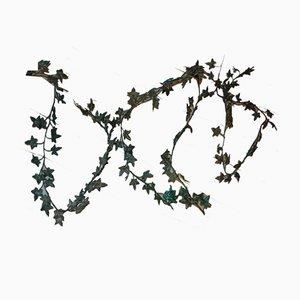 Art Deco Pre-War Brass Acanthus Leaf