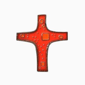 Croix en Céramique de Perignem, Belgique, 1960s