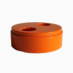 Orange Twisting Vide Poche Bowl by Sergio Asti for Bilumen