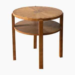 Art Deco Occasional Table with Fruit Wood Inlay, France, 1930s