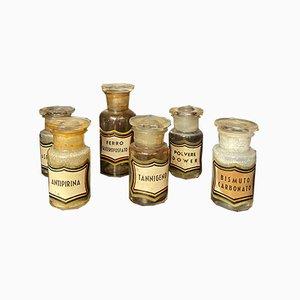 Pharmacy Bottles, Set of 38