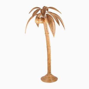 Coconut Lamp in Rattan