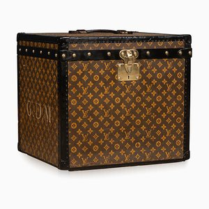 20th Century Cube Trunk in Monogrammed Canvas from Louis Vuitton, Paris, 1900s