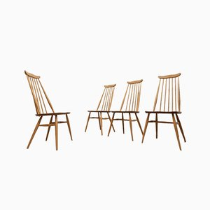 Blonde Elm Dining Chairs by Ercol Goldsmith, 1960s, Set of 4