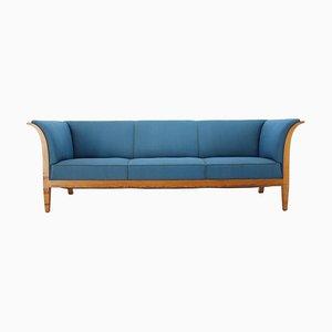 Mahogany Three-Seat Sofa Frits Henningsen, 1940s, Denmark