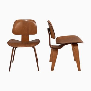 DCW Dining Chairs by Charles & Ray Eames for Herman Miller, 1950s Set of 2