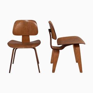 DCW Esszimmerstühle von Charles & Ray Eames für Herman Miller, 1950er, 2er Set