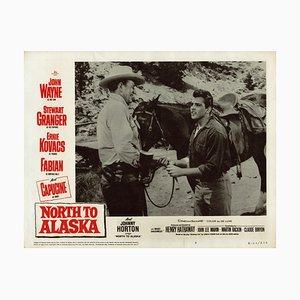Du Nord à l'Alaska, mettant en vedette John Wayne, 1960, carte de visite