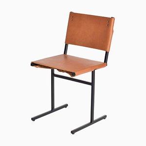 Cognacfarbener und schwarzer Memento Stuhl von Jesse Sanderson
