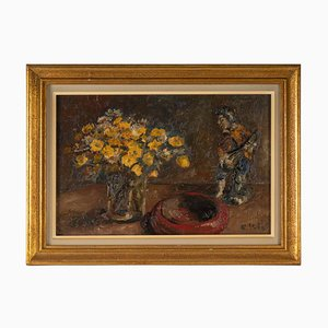 Mid 20th Century, Bouquet of Flowers, Oil on Canvas