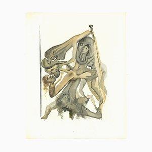 Salvador Dali, News of the Limbos, Woodcut by Salvador Dalì, 1963