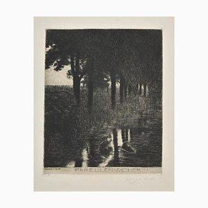 Franz Von Stuck, Trout Pond, Etching and Drypoint, 1890s