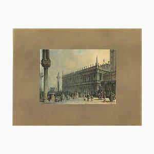 Francesco Zanin, Venedig, China Tinte, Aquarell und Tempera, 1877