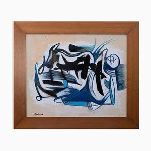 Giorgio Lo Fermo, Blue and Black, Oil on Canvas, 2021