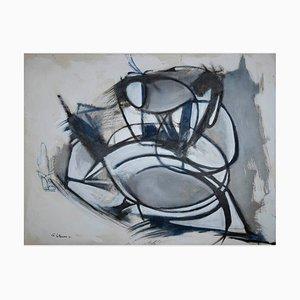 Giorgio Lo Fermo, Gray Expressionism, Oil on Canvas, 2021