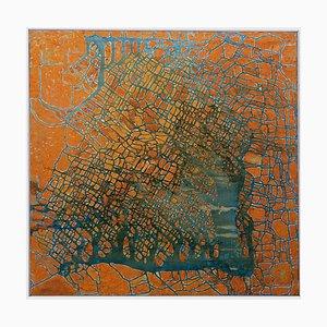 Giorgio Lo Fermo, Golden Reticulum, Huile sur Toile, 1993