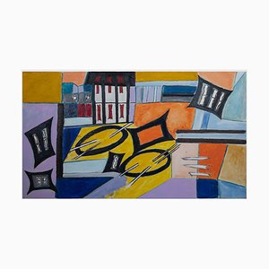 Giorgio Lo Fermo, Abstrakt Geometrisch, Öl auf Leinwand, 2021