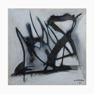 Giorgio Lo Fermo, Gray Shape, Oil on Canvas, 2021