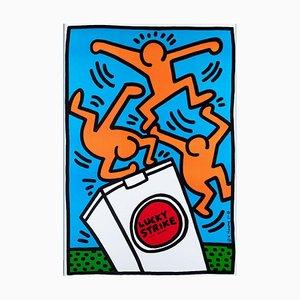 Lucky Strikes, litografía y compensación, Keith Haring, 1987