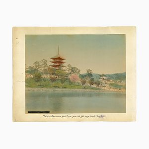 Unknown, Ancient View of Temple in Kyoto, Albumen Print, 1880s-1890s