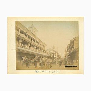 Imprimé Antique Impressionniste de Tokyo, Imprimé Albuminé, 1880s-1890s
