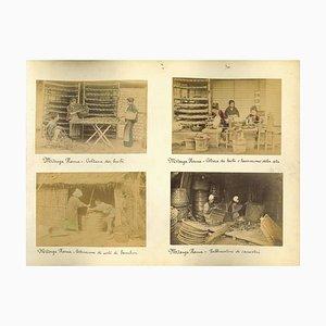 Unknown, Japanese Ethnographic Photograph, Vintage Albumen Print, 1880s/1890s, Set of 7