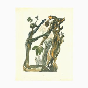 Salvador Dalí, The Wood and the Suicide, Woodcut Print, 1963