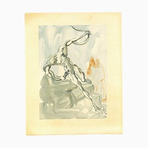 Salvador Dalí, Robbers, Woodcut Print, 1963