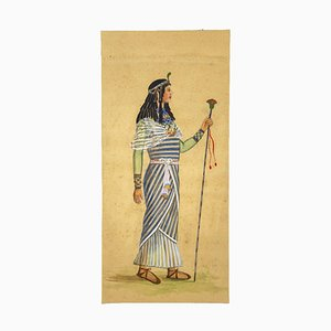 Unknown, Kostüm von Aida, Tempera und Aquarell, 1920er