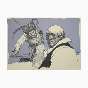 Armando De Stefano, Characters, Lithograph, 1973