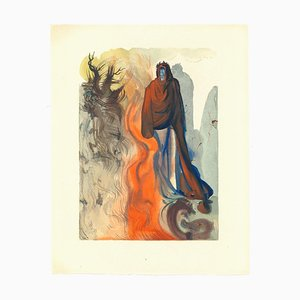 Salvador Dalí, The Waterfall of the Phlegethon, Woodcut Print, 1963
