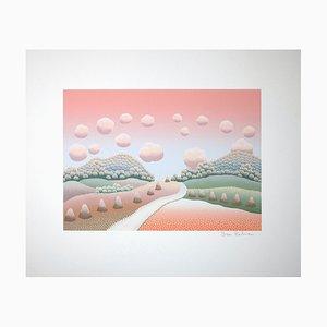 Ivan Rabuzin, Pink Landscape, Screen Print, 1990s