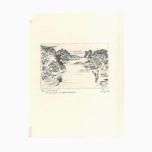 Gravure Inconnue, Paysage, Gravure, 1930s