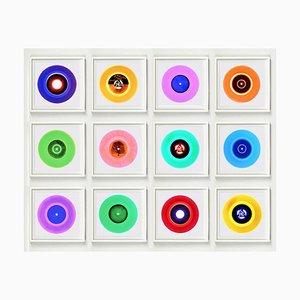 B Side Vinyl Collection Twelve Piece Installation, Pop Art Multi-Color Photo 2016