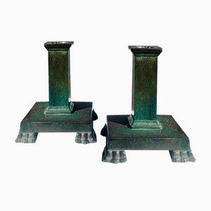 Bronze Kerzenständer von Jacob Ängman, 2er Set