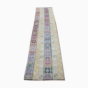 Patchwork Oushak Handmade Wool Rug Runner