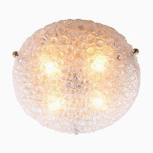 Murano Bubble Glas Deckenlampe von Hillebrand, 1960er